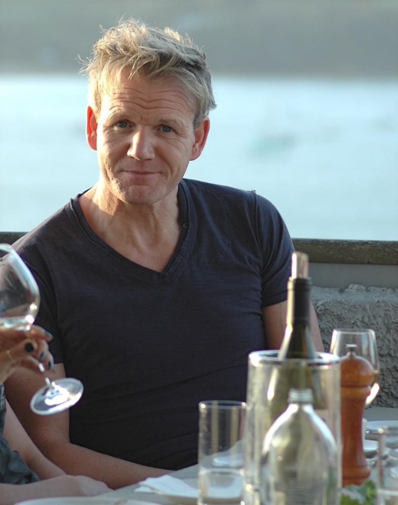 Gordon Ramsay at Te Whau. Photo Tony Forsyth
