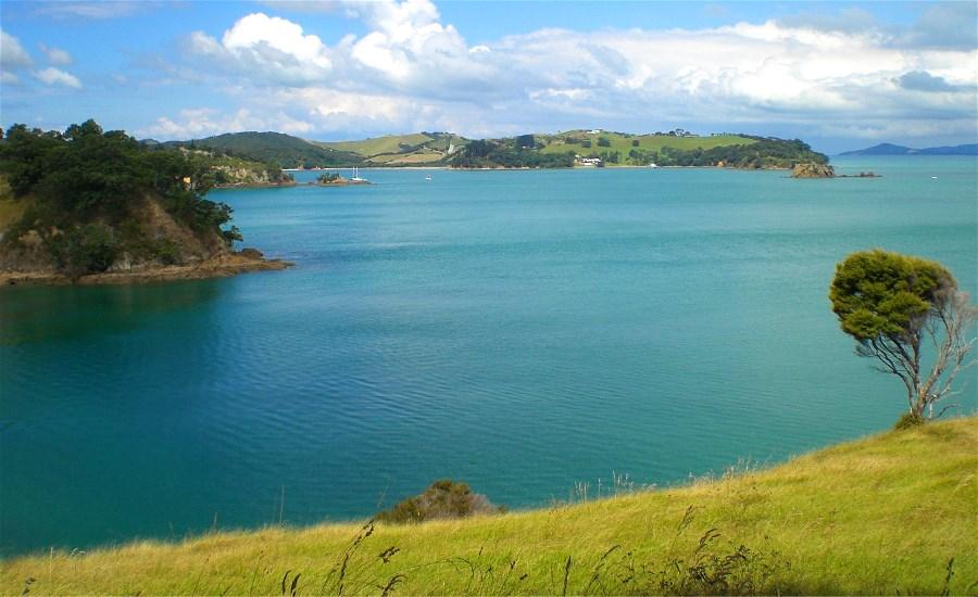 View across Kauakarau Bay from the from the Te Whau end of the Tihape Bay Walkway