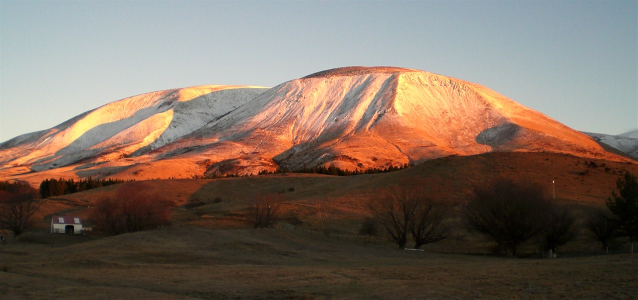 A dusting of Autumn snow on Mt. Chisholm.