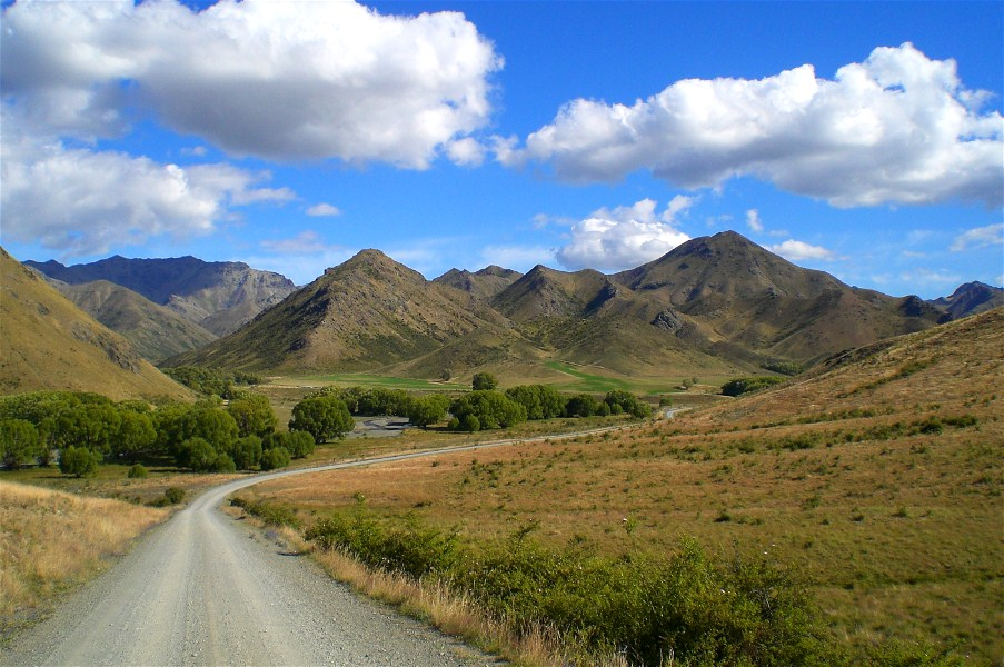 Driving through Muller Station, I am almost at Molesworth,
