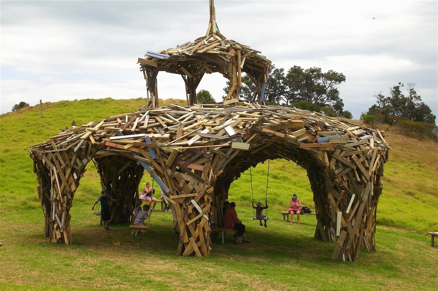 Winner of the 2013 Headland Sculpture exhibition was Gregor Kregar with his Pavilion Structure.