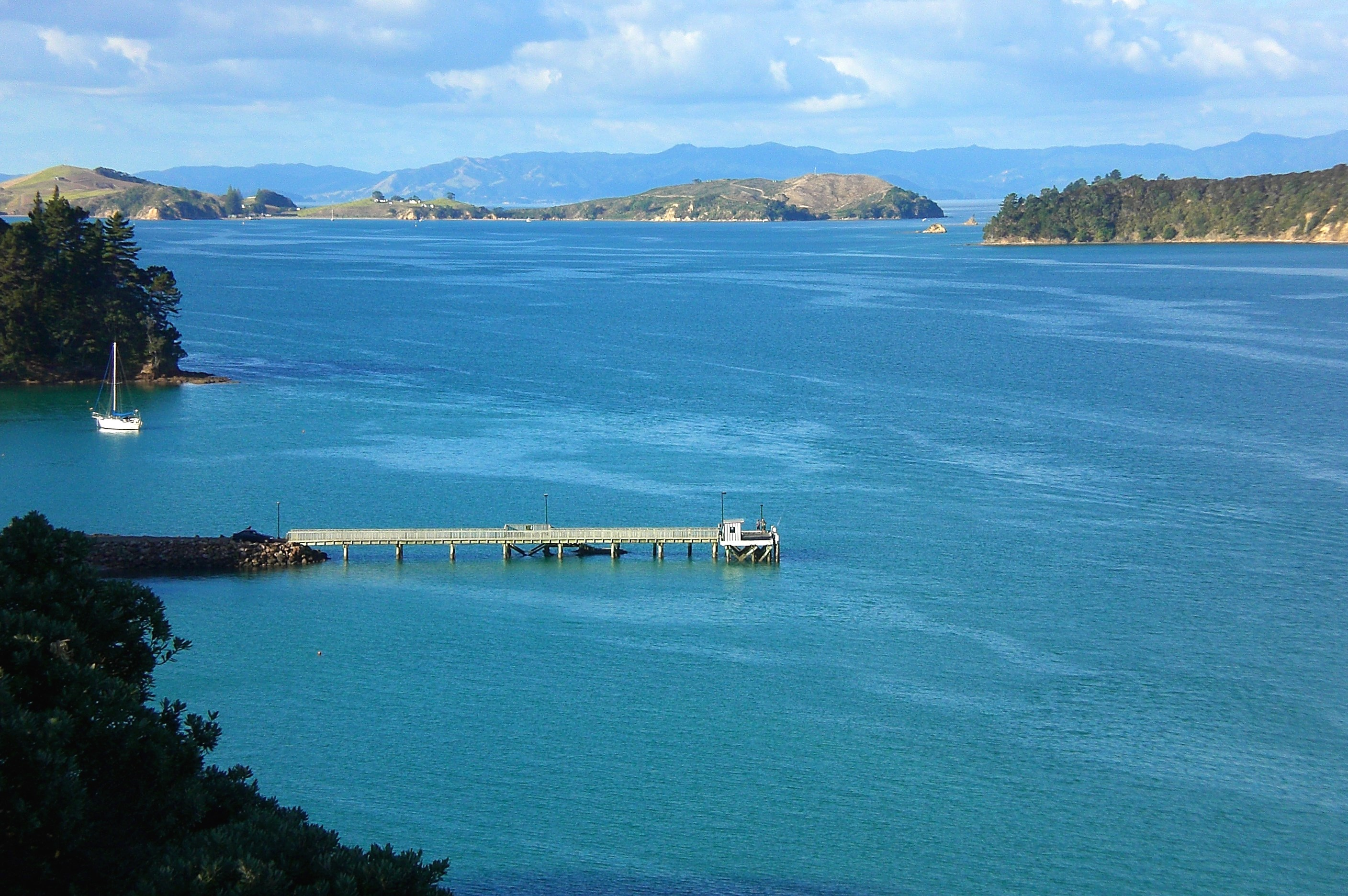 Pier at Orapiu where a ferry calls in from Auckland on route to the Coromandel via Rotora Island, which is where another walk will be.